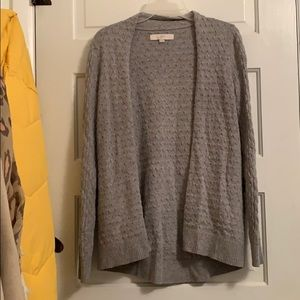 The Loft Grey Cardigan Size Small With Pockets!!